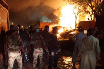 Car bombing at hotel in Pakistan kills 4, wounds 11