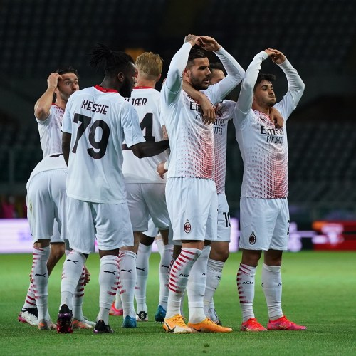 Milan score seven to move closer to Champions League return