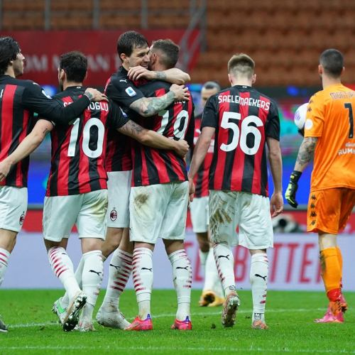 Milan go second in Serie A with win over Benevento
