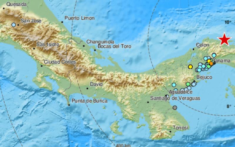 Earthquake shakes buildings in Panama City