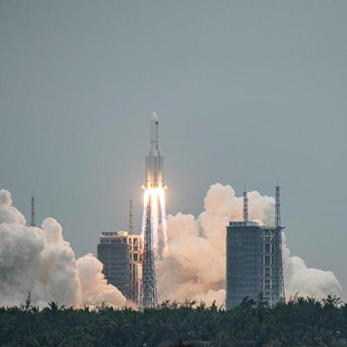 Chinese rocket debris lands off the Maldives, in Indian Ocean
