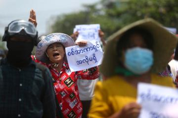 Myanmar marks 100 days of junta rule with protests