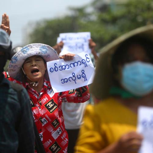 Myanmar protesters march three months after coup; U.N. warns of 'standstill'