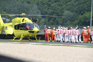 UPDATE  Swiss driver Dupasquier in serious conditions after accident during Italian MOTO3 GP qualifying session