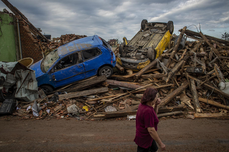 Photo Story: Rare tornado, storms rip through southern Czech Republic, killing three