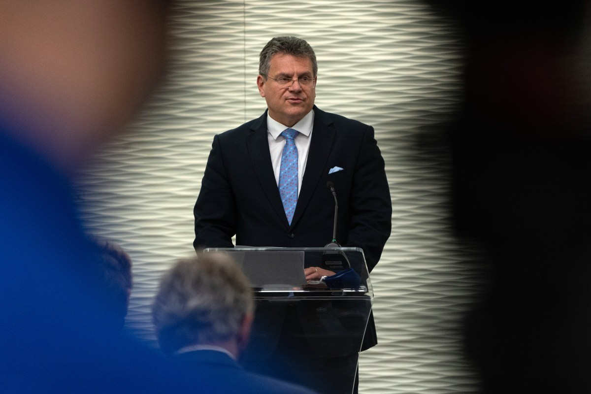 Britain must restore trust, but approach welcome -EU's Sefcovic