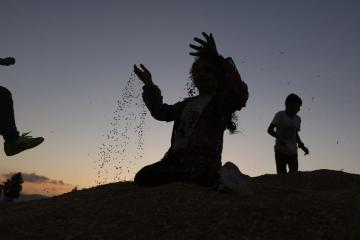 Photo Story – Local wheat festival in the West Bank