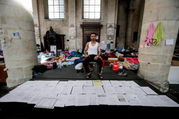 Photo Story – Hunger strike among undocumented people in Brussels