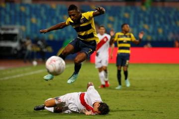 Peru recover from two goals down to draw 2-2 with Ecuador