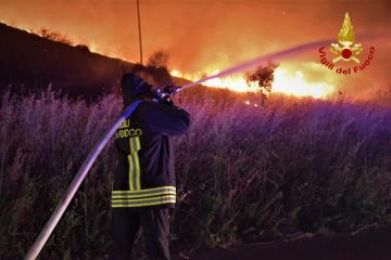 Photo Story: Wildfires in Sicily