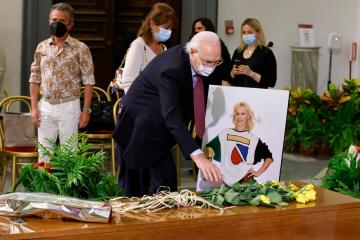 Photo Story: Raffaella Carra lies in state in Rome