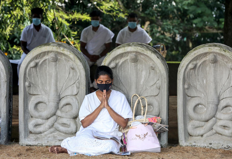 Photo Story: Buddhist religious activities on the day of a full moon in Sri Lanka