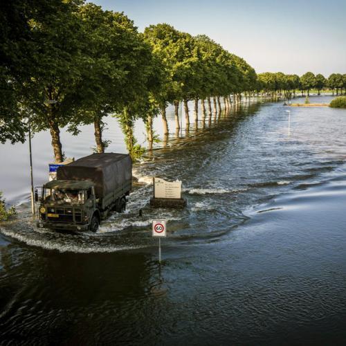 Photo Story: Meuse flood water level in Limburg, The Netherlands