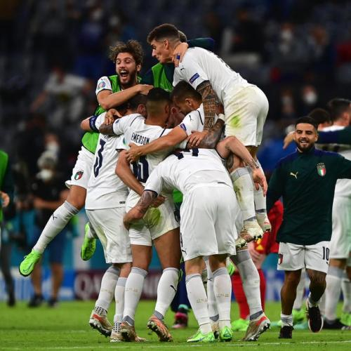 Italy book semi-final spot with 2-1 win over Belgium