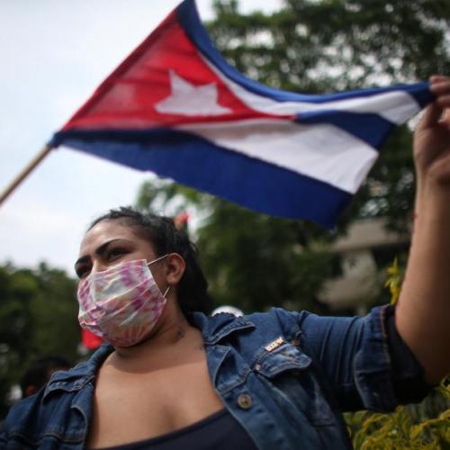 U.S. calls for calm in Cuba, concerned by images of violence