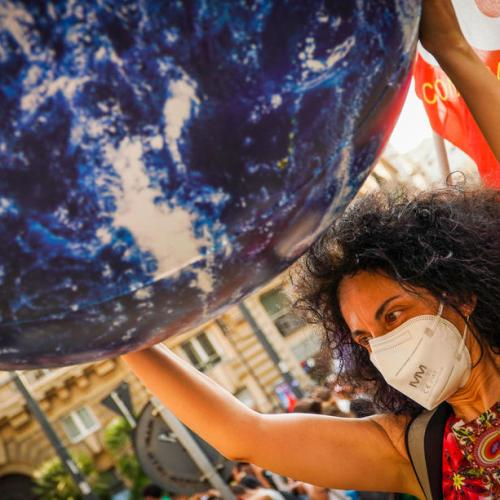 Photo Story – Protest against the G20 Ministerial meeting on Environment