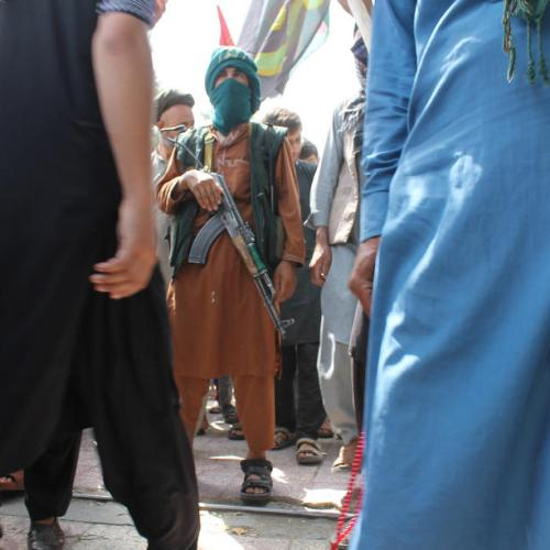 Reports of several killed amid firing by Taliban and stampede during rally in Afghan city
