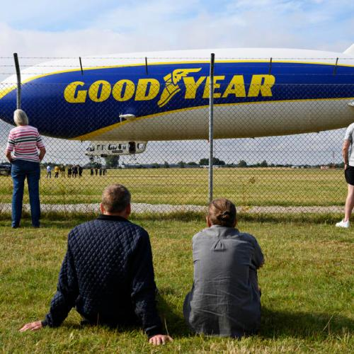 Photo Shop: Giant Zeppelin airship at Roskilde Airport