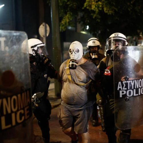 Greek police use tear gas, water canon during Athens vaccine protest