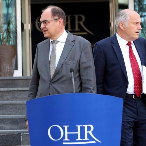 New peace envoy gets hostile reception from Bosnian Serb leaders