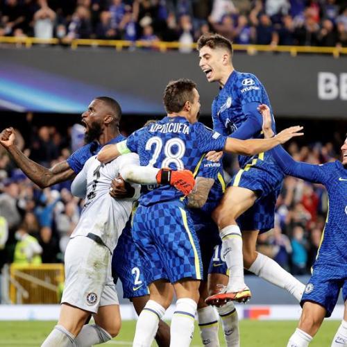 Chelsea win UEFA Super Cup on penalties