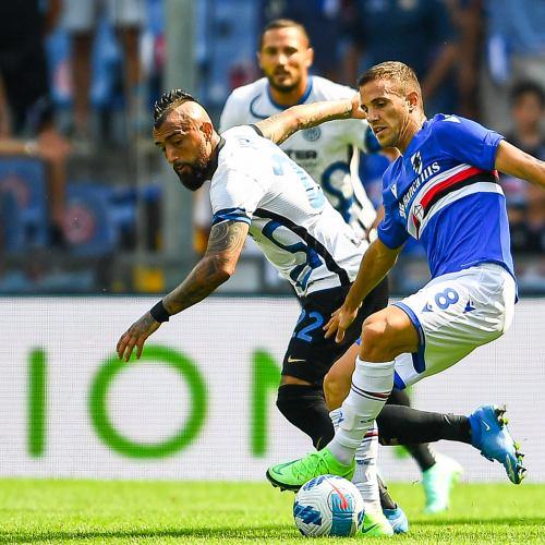 Inter Milan pegged back twice as battling Sampdoria earn draw