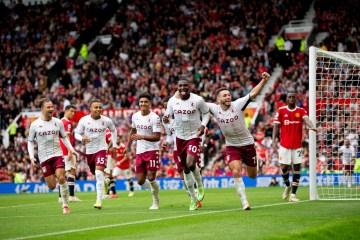 Fernandes misses last-gasp penalty as Villa stun Man United