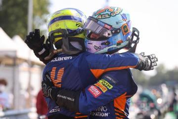 Ricciardo wins Italian Grand Prix at Monza in McLaren one-two finish