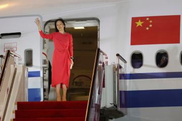 China welcomes Huawei executive home, Trudeau hugs Canadians freed by Beijing