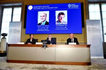 List, MacMillan win 2021 Nobel Prize in Chemistry