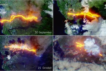 Photo Story: One month of eruptions from the Cumbra Vieja in La Palma, Canary Islands