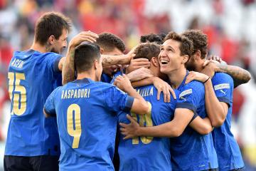 Italy edge Belgium 2-1 to finish third in Nations League