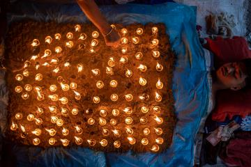 Photo Story – Nepalese Hindu devotees celebrate the Dashain Festival in Bhaktapur