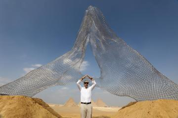 Photo Story – International art exhibition 'Forever is Now' near Giza Pyramids