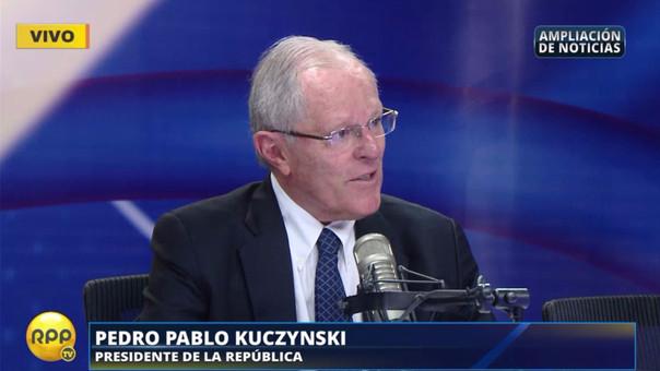 """PPK: """"No creo que vayamos hablar del indulto con la señora Fujimori"""" (RPP TV)"""