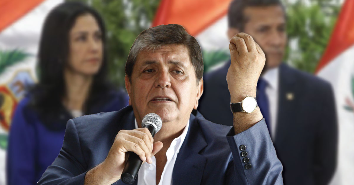 Alan García se pronunció sobre la prisión preventiva a Ollanta Humala y Nadine Heredia.