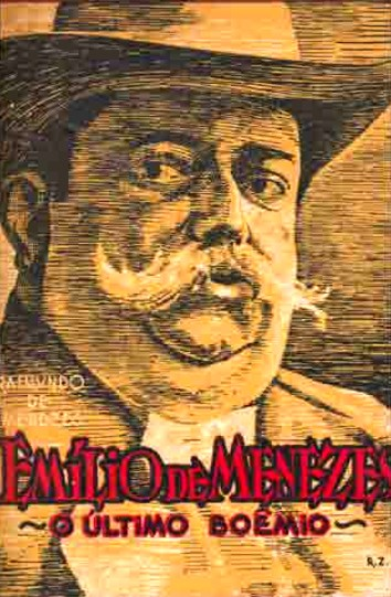 """Capa do livro """"Emílio de Menezes, o último boêmio, de Raimundo Menezes. Livraria Martins Editorta, 1956"""