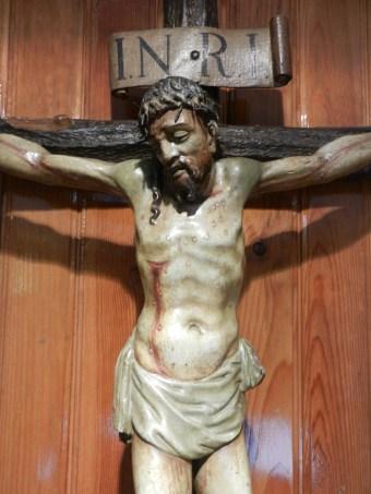 Imagen del Jesús Crucificado en el Oratorio.