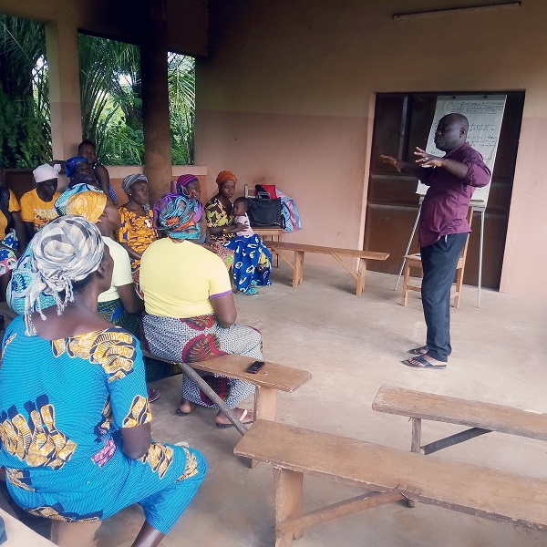 Photo des participants lors du déroulement de la formation