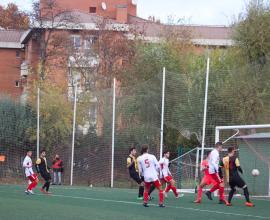 imagen de un gol en el último minuto del C.D. Galapagar ante el Complutense Alcalá