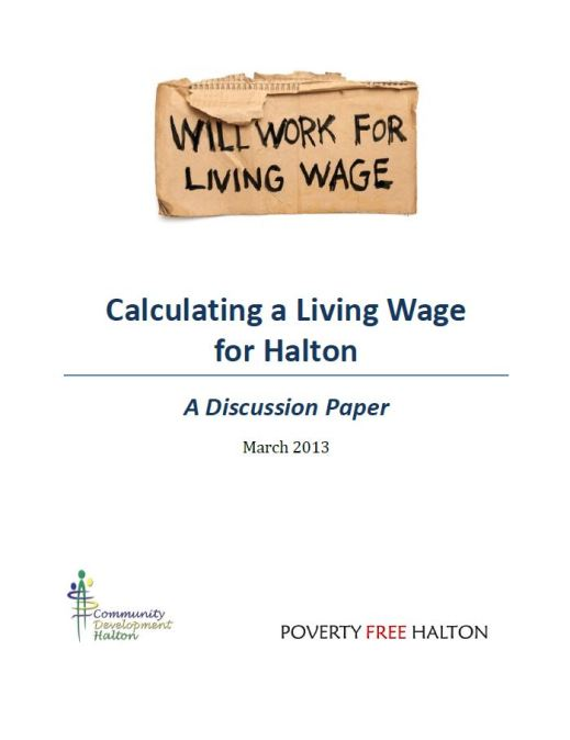 Calculating a Living Wage in Halton – A Discussion Paper