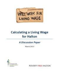 Calculating a Living Wage in Halton: A Discussion Paper