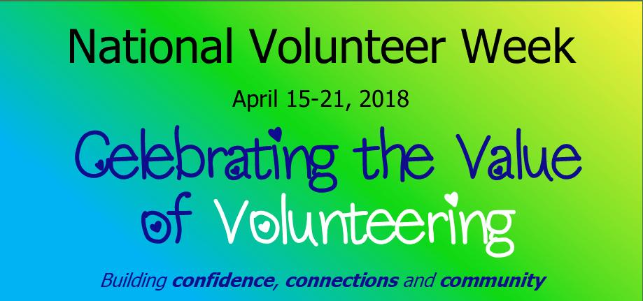 National Volunteer Week 2018