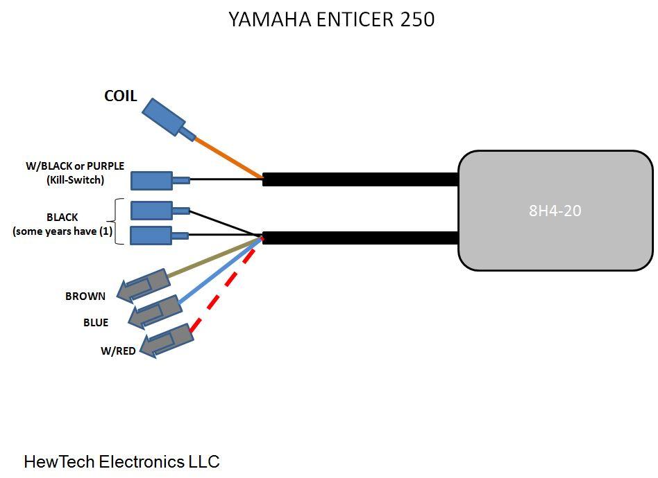 yamaha cdi box wiring diagram fireplug cdi for yamaha enticer bravo 250 300 340 to 1984   81  fireplug cdi for yamaha enticer bravo