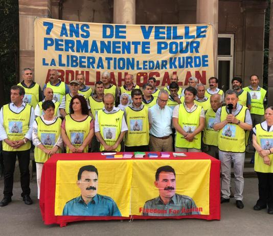 5ème anniversaire de la veille permanente pour la libération d'Ocalan, mardi 25 juin