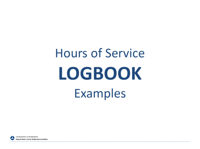 hours of service logbook examples