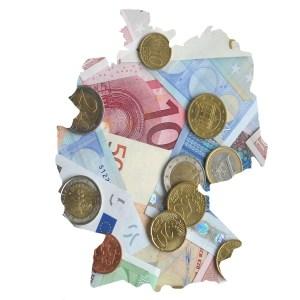 German map in Euros