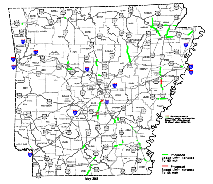 Select Arkansas Highways To Get Increased Speed Limits