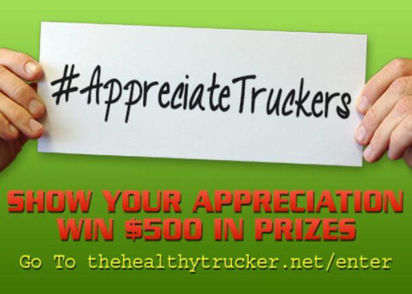 Appreciate Truckers. Take a Photo. Win $500 in Prizes.