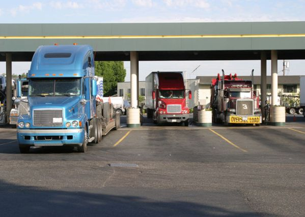 Authorities say the 61-year-old wife of a truck driver has died after she was struck by a box truck pulling into a truck stop off Interstate 90 in Pembroke, New York.